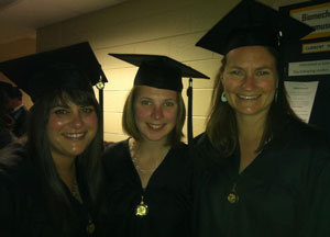 MFT program grads in cap and gown