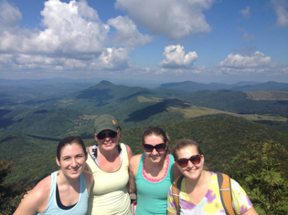 Students at top of Elk Knob