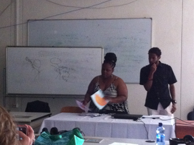 Denzel and Tiffany presenting at the Bahir Dar University Forum!