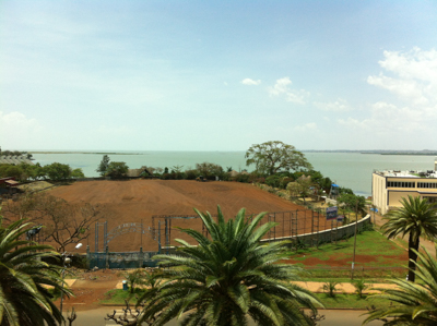 View of Lake Tana from the hotel