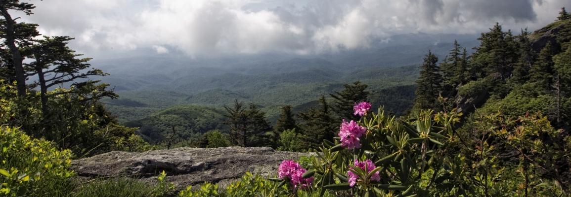 view of the blue ridge mountains