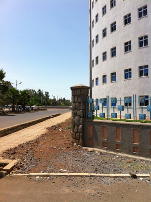 Newly constructed building at Bahir Dar University called the Wisdom Tower